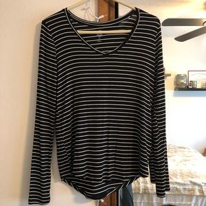 Black and white stripped long sleeve (size XS)